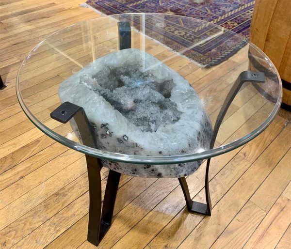 Agate Designs Agate and Quartz Geode Table