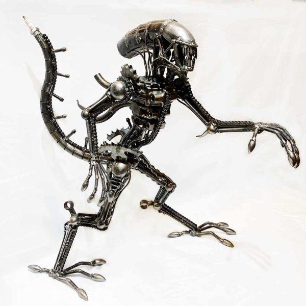Agate Designs Alien Sculpture Side
