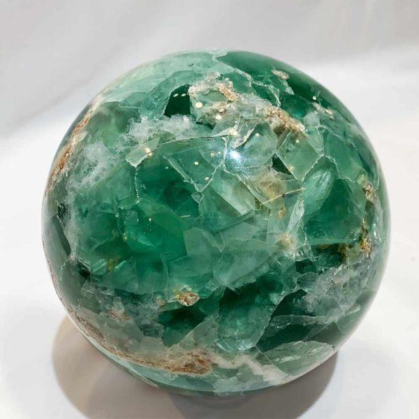 Agate Designs Fluorite Sphere Back 175