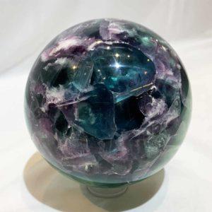 Agate Designs Fluorite Sphere Back 360