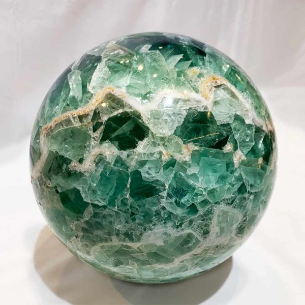 Agate Designs Fluorite Sphere Front 175