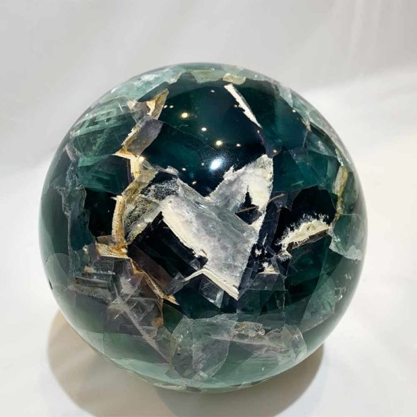 Agate Designs Fluorite Sphere Front 360