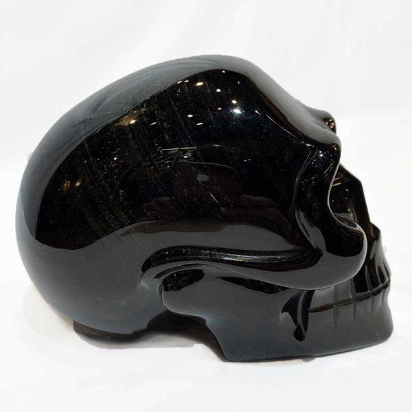 Agate Designs Gold Sheen Obsydian Skull Side