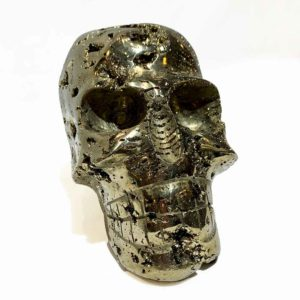 Agate Designs Pyrite Skull Front