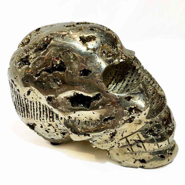 Agate Designs Pyrite Skull Side