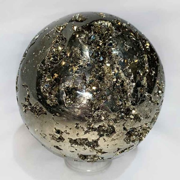 Agate Designs Pyrite Sphere Back