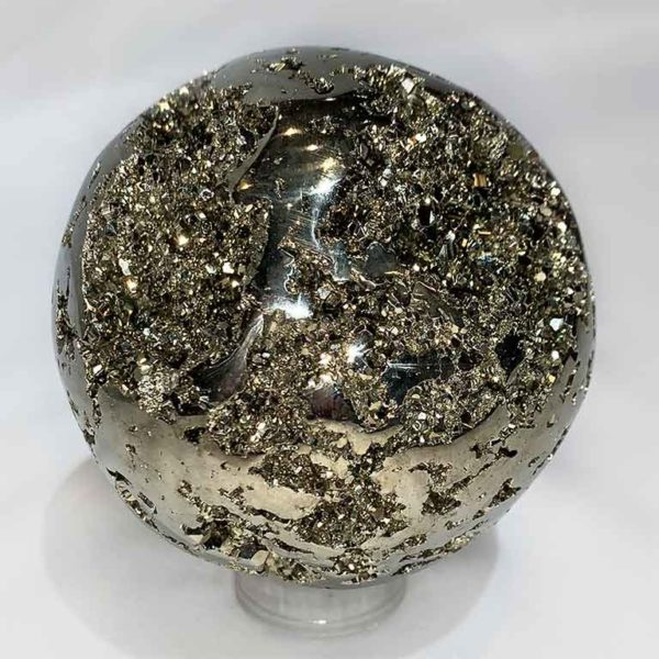 Agate Designs Pyrite Sphere Front