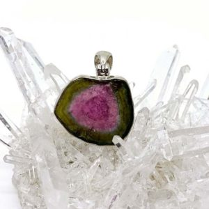 Agate Designs - Watermelon Tourmaline Pendant