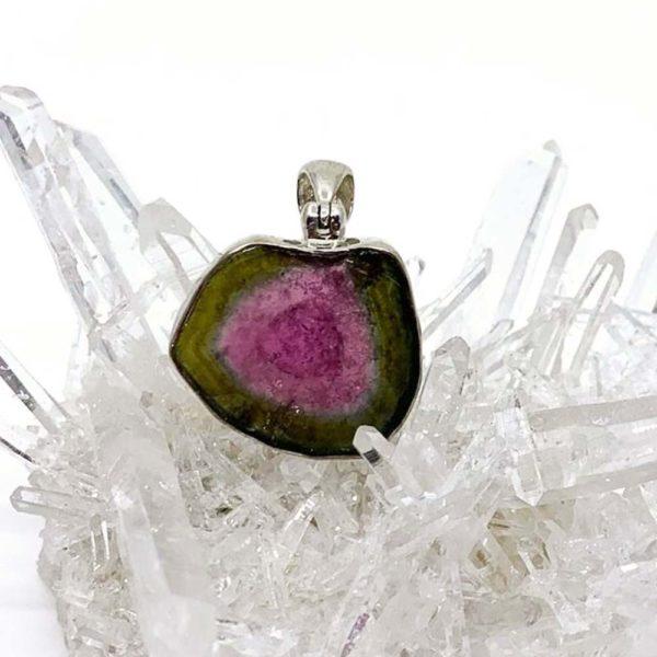 Agate Designs - Watermelon Tourmaline Pendant