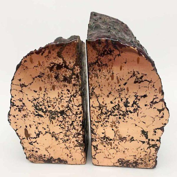 Agate Designs - Copper Bookends